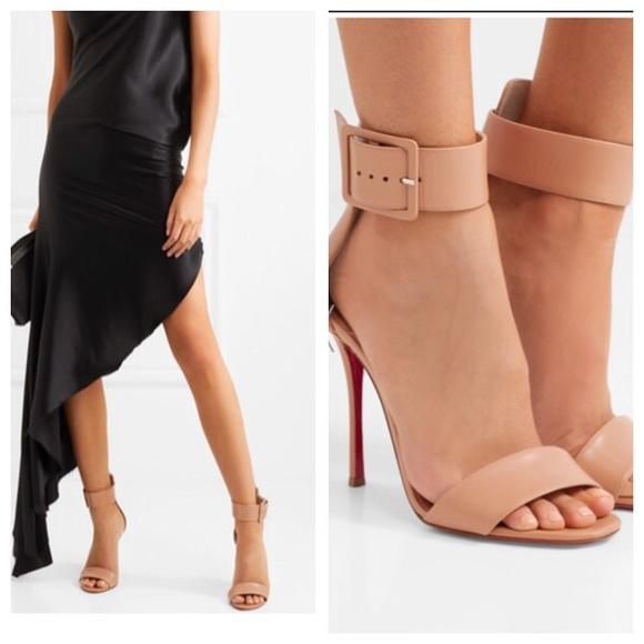 0bde0c1a0e4 NWB Christian Louboutin Black Sandals 39.5 9.5
